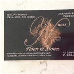 Nunes Floors and Stones Logo