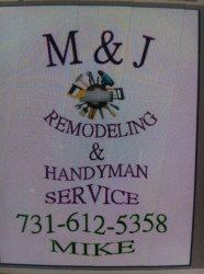 M & J Remodeling &handyman Service Logo