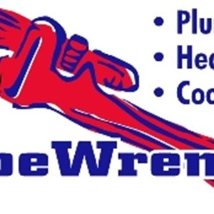 Pipe Wrench Plumbing, Heating & Cooling Logo