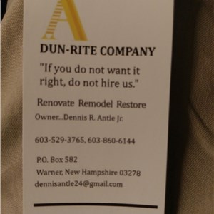 Dun-rite Renovation Logo