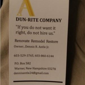 Dun-rite Renovation Logo