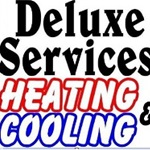 Deluxe Services Heating & Cooling Logo