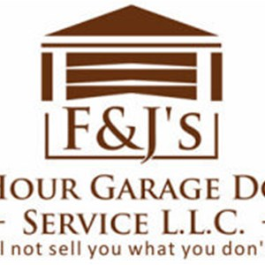 F & Js 24 Hour Garage Door Service Logo