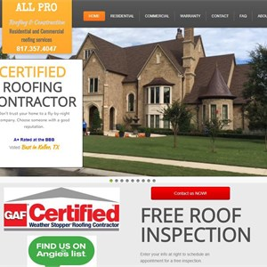 All Pro Roofing LLC Logo