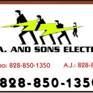 B. J. A. and Sons Electric Logo