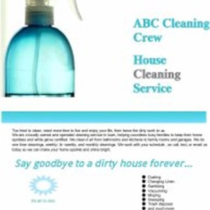 Abc Cleaning Crew Logo