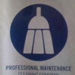 Professional Maintenance Cleaning Company Logo