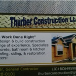 Thurber Construction LLC Logo