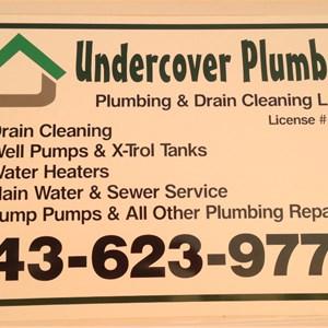 Undercover Plumber Plumbing & Drain Cleaning Logo
