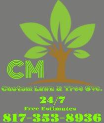 CM Custom Lawn & Tree Service Logo