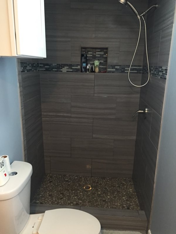 Remodeling Small Bathroom After Photo
