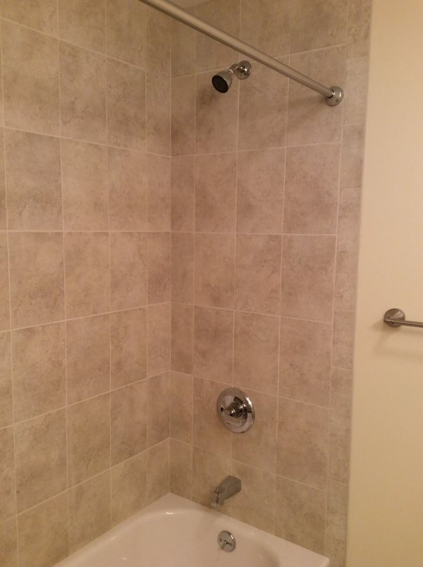 Cheap Bathroom Remodel After Photo