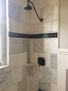 Shower Tile Installation