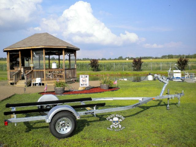 Aluminum and galvanized boat trailers