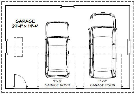 Car garage car garage pdf floor plan winchester virginia Garage sizes 2 car