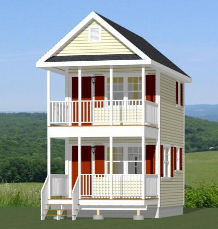 12x16 tiny house pdf floor plan 364 sq ft savannah for Tiny house floor plans for sale