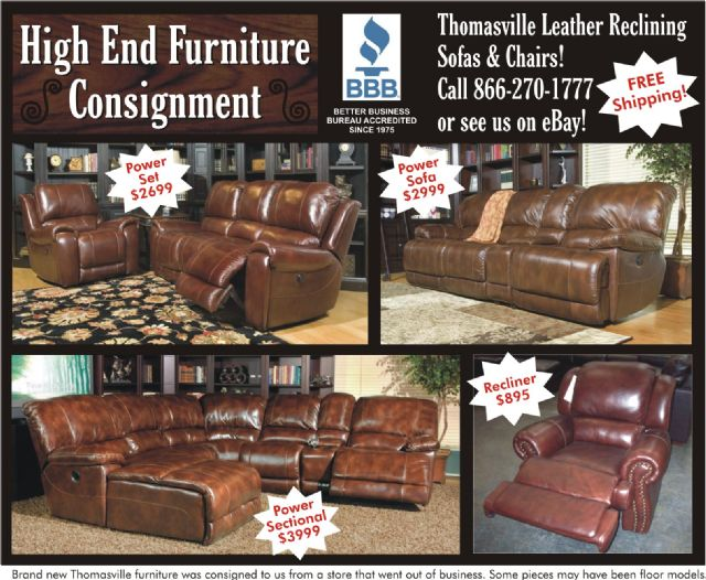 Thomasville Leather Reclining Sofas & Chairs