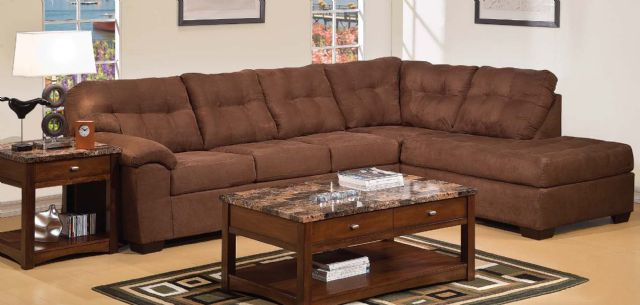New Simmons Sectional Sofa Espresso Microfiber