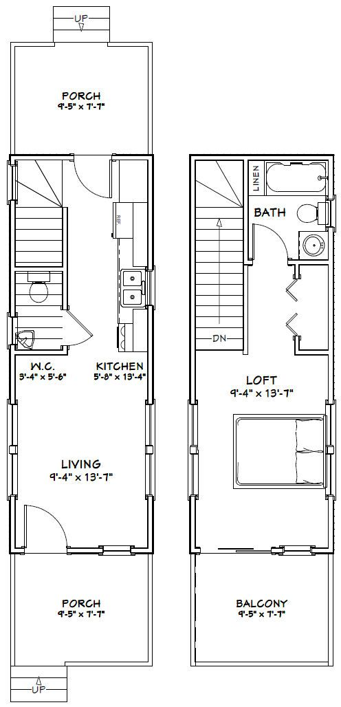 10x28 Tiny House 475 Sq Ft Pdf Floor Plan Jackson