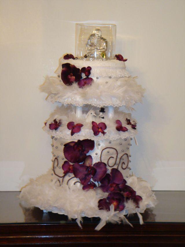 Hot Pink Zebra Designer Diaper Cake Saint Louis Missouri