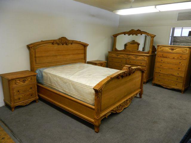 Oakwood Interiors Solid Oak Sleigh Bedroom Set Jamestown
