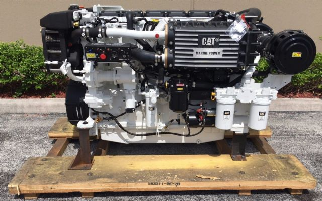 Caterpillar cat c18 acert marine diesel engine for Outboard motor cylinder boring