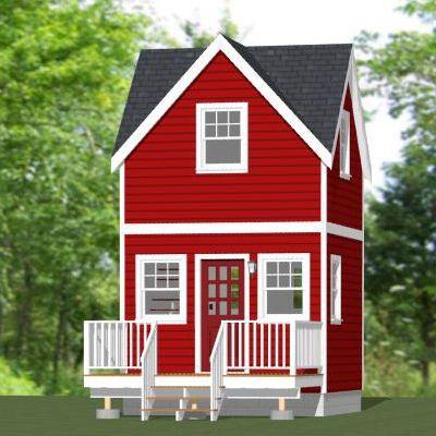 12x12 Tiny House 267 sq ft PDF Floorplan ATLANTA GEORGIA
