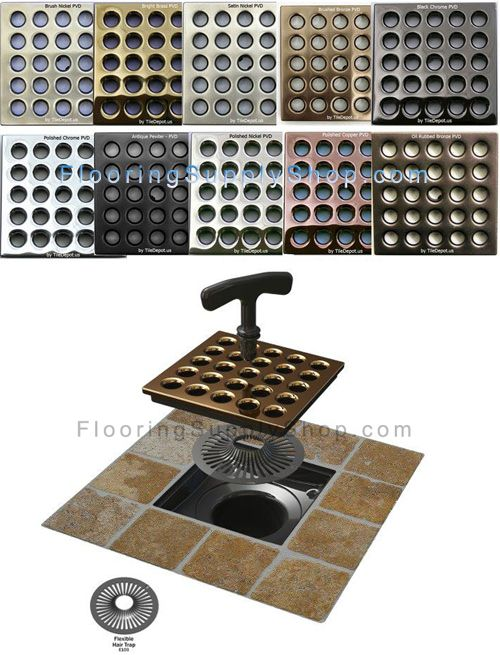 Ebbe Designer Square Shower Drain