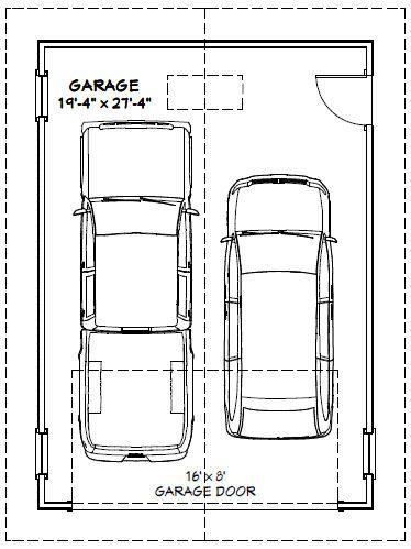 20x28 2 car garage 560 sq ft pdf floorplan valdosta for Average sq ft of 2 car garage