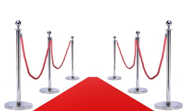 RED CARPET COMBO (6 POSTS + 4 Ropes + 1Red Carpet)