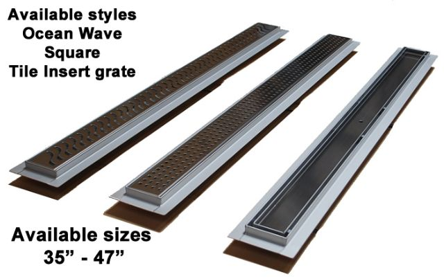 Royal Linear Shower Drains by Serene Steam