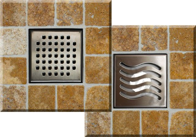 Royal Square Shower Drains by Serene Steam