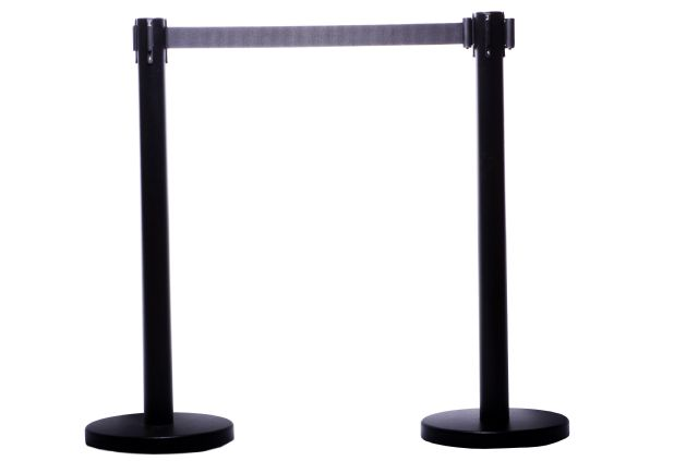 "RETRACTABLE BELT STANCHION, 36"" HT, 2 PCS SET"