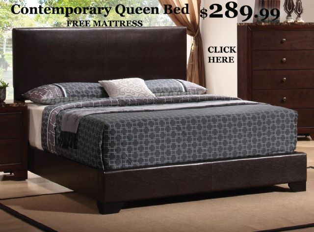 Queen Bed chocolate brown - MYP300261fm - FREE MAT