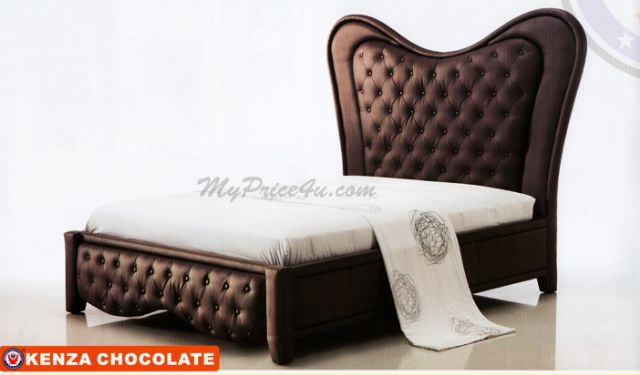 Kenza Chocolate Upholstered Bed by American Eagle
