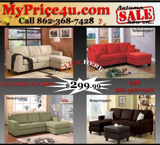 NEW SECTIONAL 4 COLORS LOW PRICE