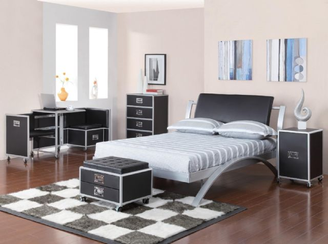 LeClair Gun Metal Twin Bed 300200T Coaster