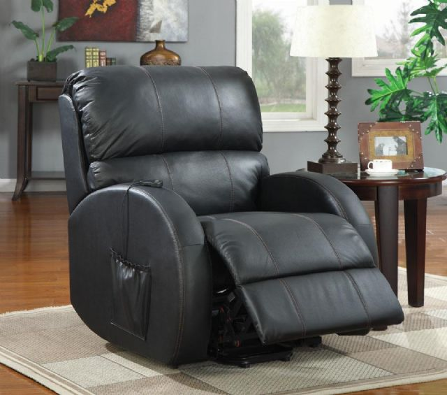 BROWN FABRIC POWER LIFT RECLINER CHAIR 601025