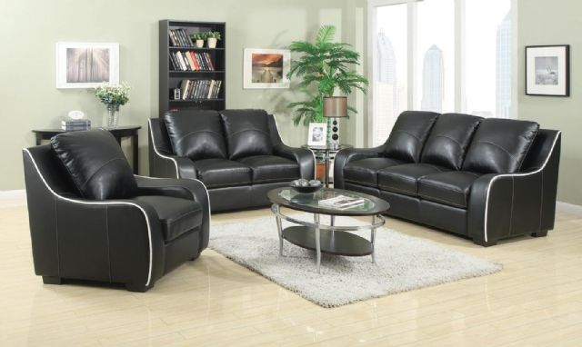 Myles Collection Padded Leather Sofa 504221 