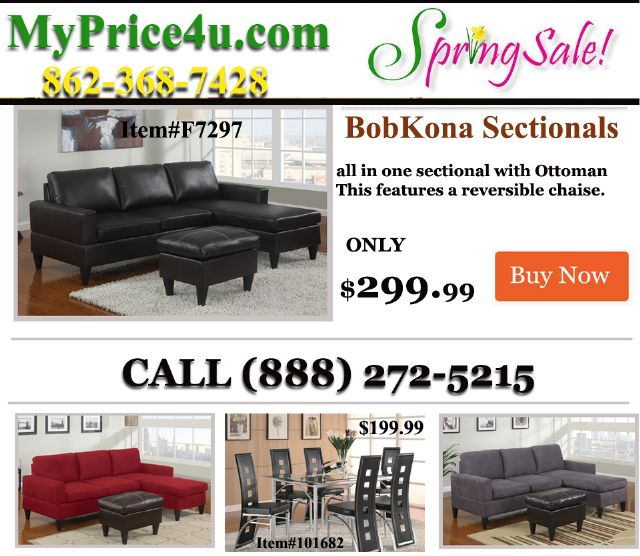 BOBKONA Brookshore Sectional F7457-F7459