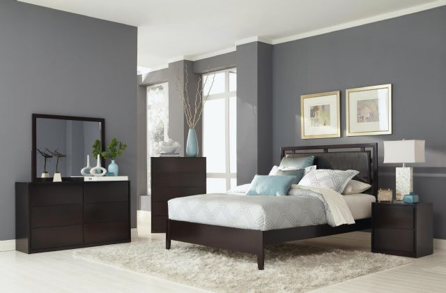 HUDSON BEDROOM COLLECTION FULL BED SET 203251F