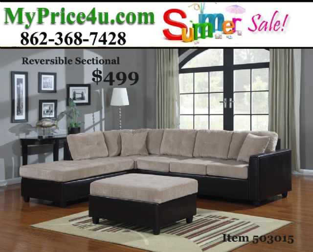 HENRI BEIGE CORDUROY SECTIONAL 503015 BY COASTER