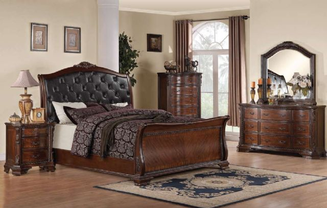 MADDISON FAUX LEATHER HEADBOARD BEDROOM BED 202261