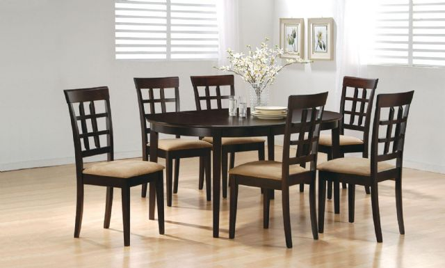 CAPPUCCINO OVAL DINING SET- COASTER 100770 100772