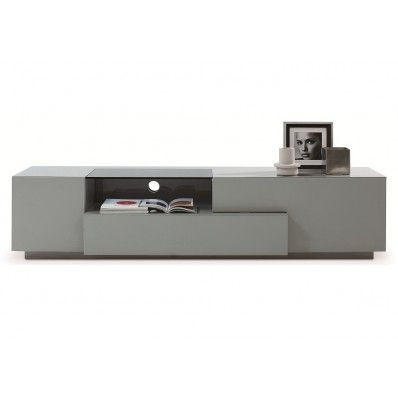 J&M MODERN TV015 GREY LACQUER