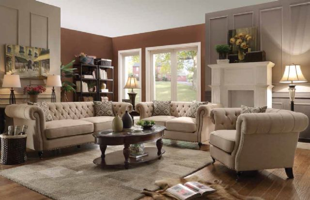 TRIVELLATO COLLECTION OATMEAL LINEN SOFA 505821