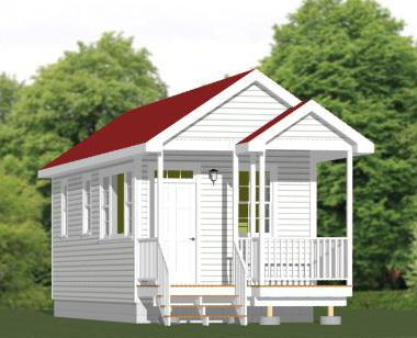 16x32 1 Bedroom Tiny House PDF Floor Plan COLUMBUS