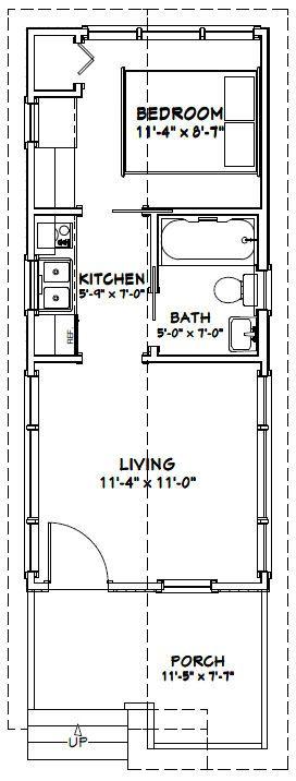12x28 1 bedroom house -- pdf floorplan