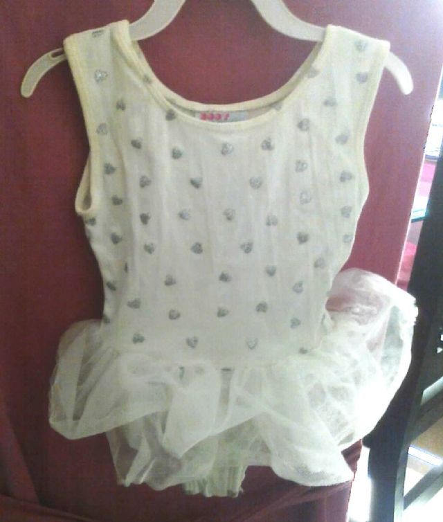 Little girls ballerina white/silver tutu