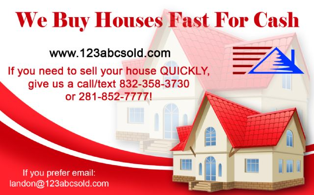 We Buy Houses FAST for Cash!